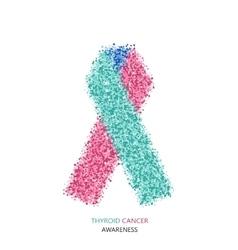 modern thyroid CANCER awareness circles vector image