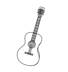 Music instrument in black and white icon vector image vector image