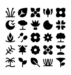 Nature icons 9 vector