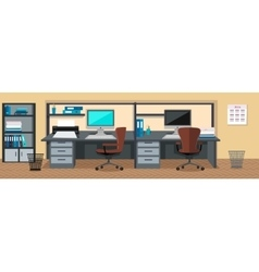 Office Interior Web Banners in Flat Design vector image vector image