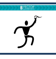 Olimpic torch design vector