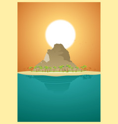 Paradise desert island vector