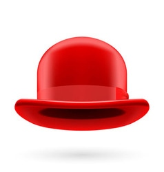 Red bowler hat vector
