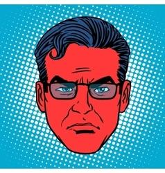 Retro devil Emoji emotion face man vector image vector image