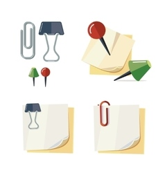 set of cartoon stationery vector image