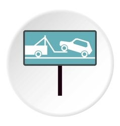 Sign evacuation of cars to impound yard icon vector image