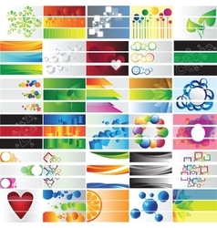 Various 90 colorful banners - collection vector image vector image