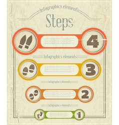 Vintage Infographics design vector image vector image