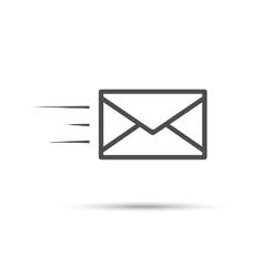 Receive mail icon vector
