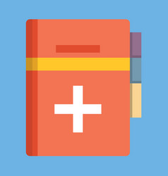 Medical book icon flat style vector
