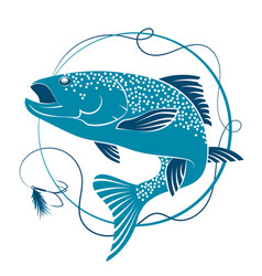 salmon and bait for fishing vector image