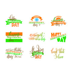 15th of august india independence day logo design vector