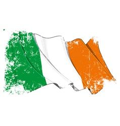 Ireland flag grunge vector