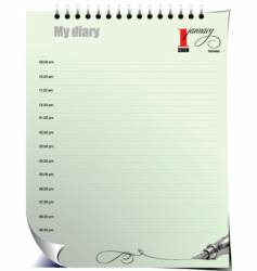 diary Jan vector image