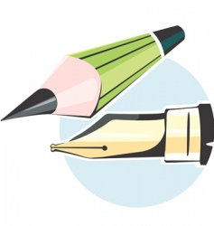 Pen and pencil vector