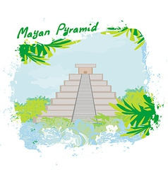 Mayan pyramid chichen-itza mexico - vector