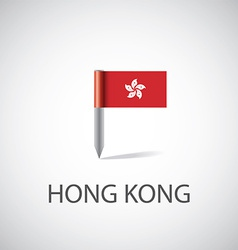 Hong kong flag pin vector