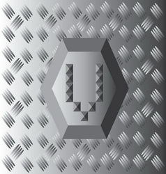 V text aluminium wallpaper vector