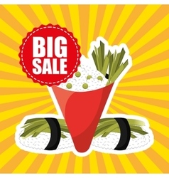 Sale of asian food vector