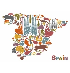 Map Of Spain vector image