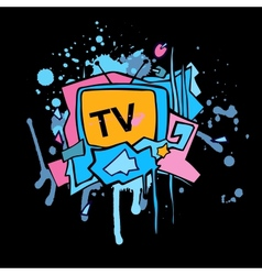 Abstract colorful tv vector
