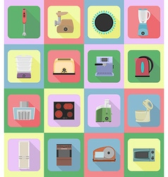Household appliances for kitchen 19 vector