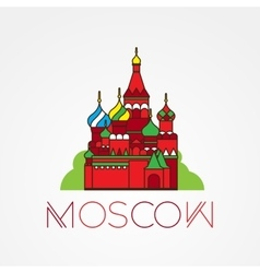 World famous st basil cathedral greatest vector