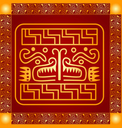 american indians maya and aztec symbolic vector image vector image
