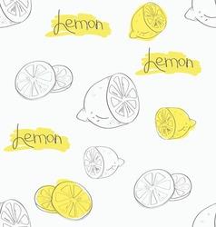 Background from sliced lemons vector