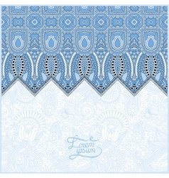 Blue colour moroccan template with place for your vector