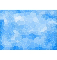 Blue mosaic composition with ceramic shapes vector