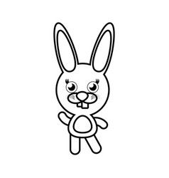 Cartoon bunny animal outline vector