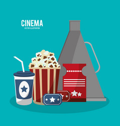 cinema movie style icons vector image vector image