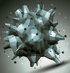 complicated 3d figure modern digital technology vector image