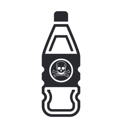 dangerous bottle icon vector image vector image