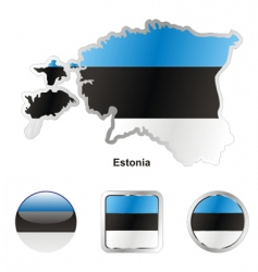 Estonia flag vector image