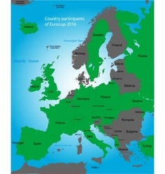 Euro cup map vector image vector image