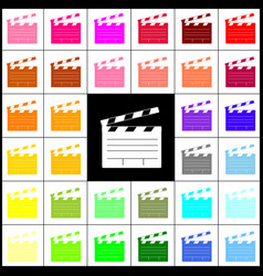 Film clap board cinema sign felt-pen 33 vector
