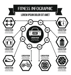 Fitness infographic concept simple style vector