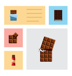 Flat icon bitter set of sweet dessert wrapper vector