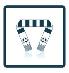 Football fans scarf icon vector image vector image