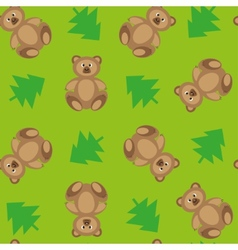 Forest bears 2 vector image vector image