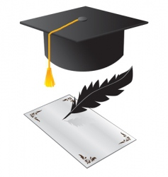graduation day vector image vector image