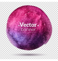 Hand painted watercolor banner vector image vector image