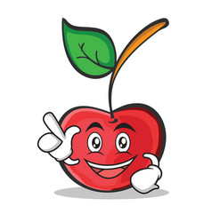 have an idea cherry character cartoon style vector image