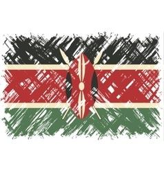 Kenyan grunge flag vector image