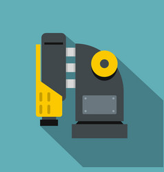 Pneumatic hammer machine icon flat style vector
