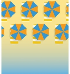 Seamless background with umbrellas and sandy beach vector image