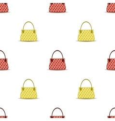 Seamless womens handbag pattern vector