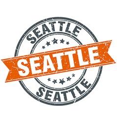 Seattle red round grunge vintage ribbon stamp vector